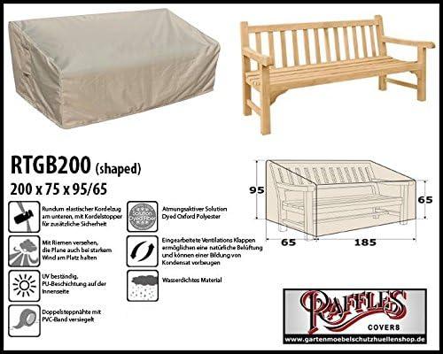 Raffles Covers Funda para Banco de jardín 200 x 75 h: 95/65 cm Funda para Mesa de jardín Cuadrada, Cubierta para Mesa de jardín Muebles de jardín, Protectora: Amazon.es: Jardín