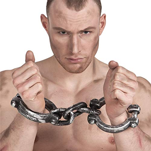 Men's Halloween Wrist Cuffs Props Occupation Fancy Dress Costume Weapon Prop ()