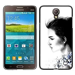 For Samsung Galaxy Mega 2 , S-type® Lady Charcoal White Minimalist - Arte & diseño plástico duro Fundas Cover Cubre Hard Case Cover