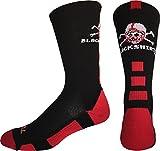 Nebraska Cornhuskers Blackshirts Crew Socks (Black/Scarlet/White, Large)