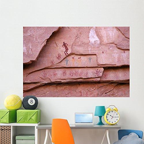 (Ancient Pueblo-anasazi Rock Art Wall Mural Wallmonkeys Peel and Stick Graphic (72 in W x 48 in H) WM234414)