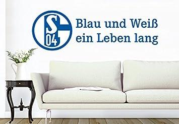 Wall-Art - Wandtattoo, Aufkleber - Schalke 04 Blau und Weiß ein ...