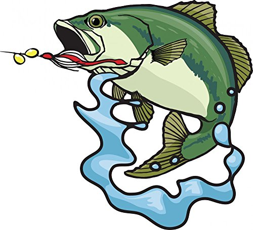 Bass Fighting - Wallmonkeys Fighting Bass Wall Decal Peel and Stick Graphic WM320131 (30 in W x 27 in H)