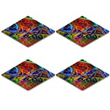 MSD Natural Rubber Square Coasters IMAGE ID 26303967 abstract colorful pattern based on fractal