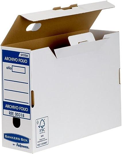 Bankers Box Folio Lomo 100 mm - Caja de archivo definitivo montaje ...