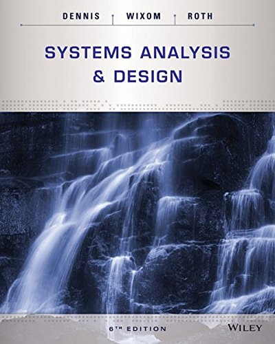 Systems Analysis and Design by Wiley