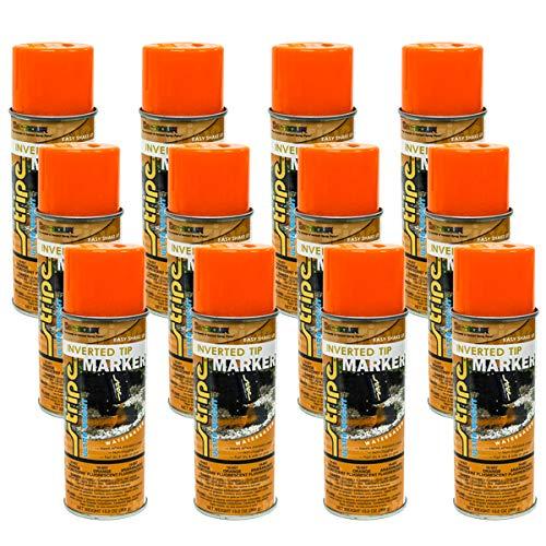 12PK 13oz Seymour Safety Orange Landscaping Construction Marking Paint 16-657 -