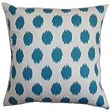 The Pillow Collection Kaintiba Ikat Pillow, Blue