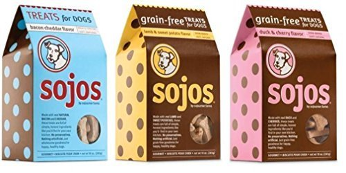 Cheap Sojos 100% Natural Treats For Dogs 3 Flavor Variety Bundle: (1) Sojos Grain-Free Duck & Cherry Flavor Treats, (1) Sojos Grain-Free Lamb & Sweet Potato Flavor Treats, and (1) Sojos Wheat & Corn Free Bacon Cheddar Flavor Treats, 10 Oz. Ea. (3 Boxes Total)