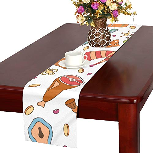 WJJSXKA Magic Boots Psychedelic Magical Cute Table Runner, Kitchen Dining Table Runner 16 X 72 Inch for Dinner Parties, Events, Decor