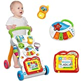 Graces Dawn Baby Sit-to-Stand Learning Walker With Music Tablet and Multifunctional Musical