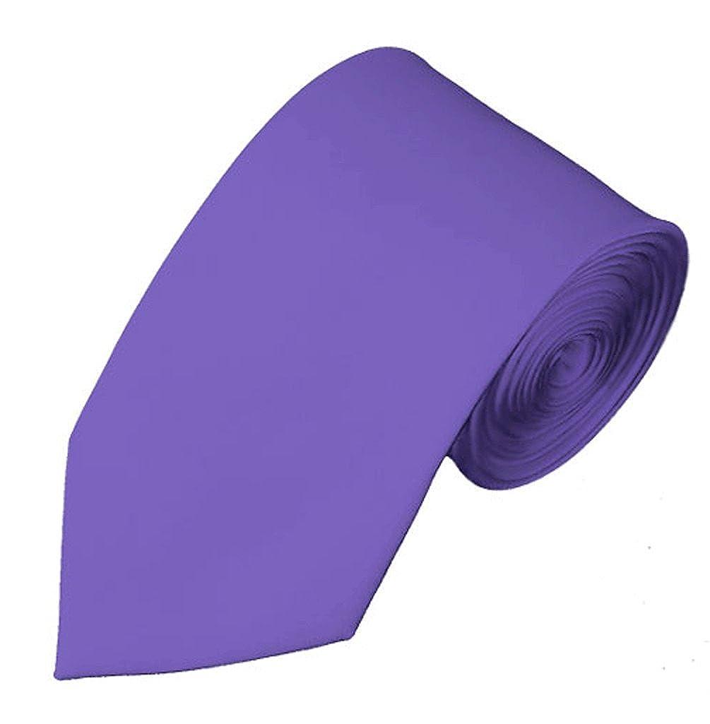 Corbata NYfashion101 delgada color liso, 7 cm morado morado Talla ...