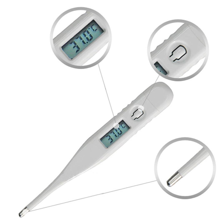 Electrónica termómetro, huhua bebé niño adultos cuerpo termómetro digital LCD temperatura medición medidor de atención de la salud monitores blanco blanco