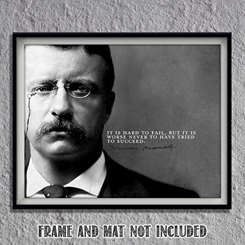 (Theodore Roosevelt Quotes Wall Art-