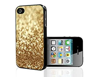 Golden Glitter Hard Snap on Phone Case (iPhone 5/5s)