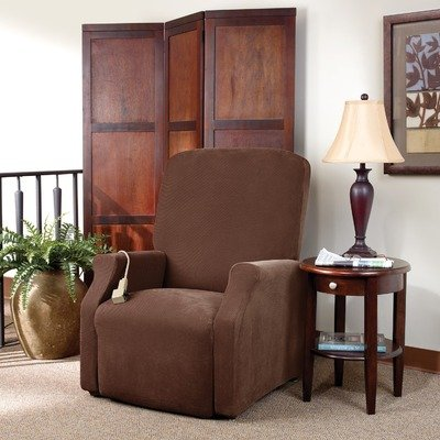 Sure Fit Lift - Large  Slipcover  - Chocolate (SF38704) (Large Chair Slipcover)
