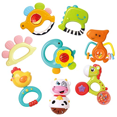 GILOBABY Baby Dinosaur Rattle Te...