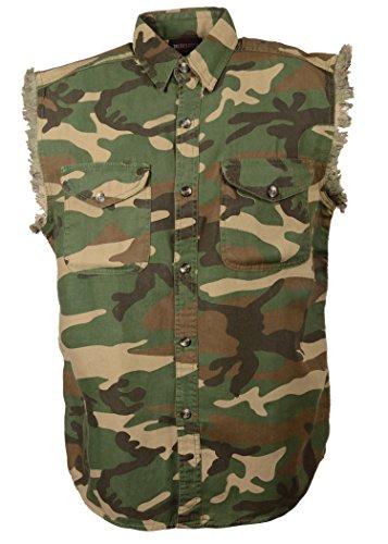 MILWAUKEE PERFORMANCE Men's Jungle Shirt (Performance Sleeveless Button Front Jersey)