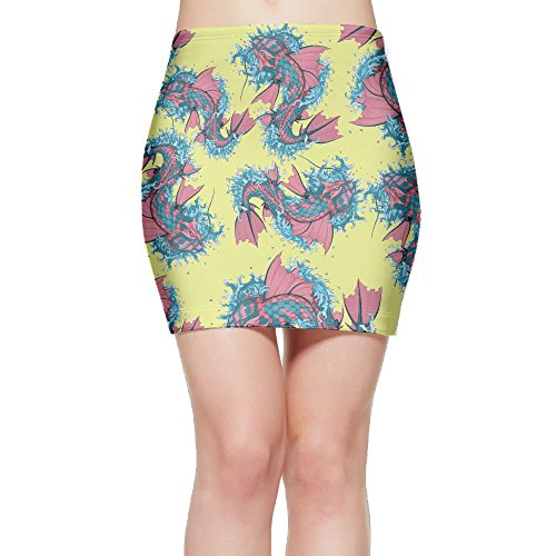SKIRTS WWE Assorted Fish Women's Slim Fit High Waisted Mini Short Skirt by SKIRTS WWE