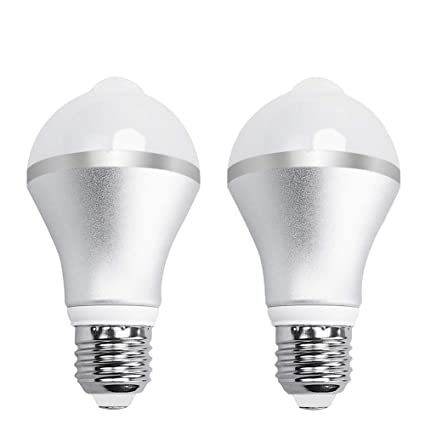 Aukora 9W Motion Activated LED Bulb   E26/E27 Motion Sensor Light Bulb  Outdoor/