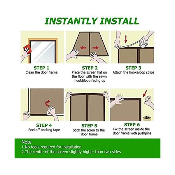 Zanzariera magnetica per porta, rete – tiene lontani le zanzare Out – bambini in età bassa e Dog Friendly (dimensioni… 4 spesavip
