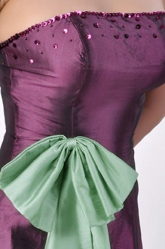 Natrual Taffeta A-line Strapless Long Bridesmaid Dress Violett (Grape Purple) mjap4H