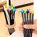 Material : Plastic Size : Length 15cm Writing point : 0.5mm Weight : 8g / piece Package : 4 x Gel pen (Random color )