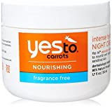 yes carrot conditioner - Yes To Carrots Fragrance-Free Intense Hydration Night Cream, 1.7 Fluid Ounce