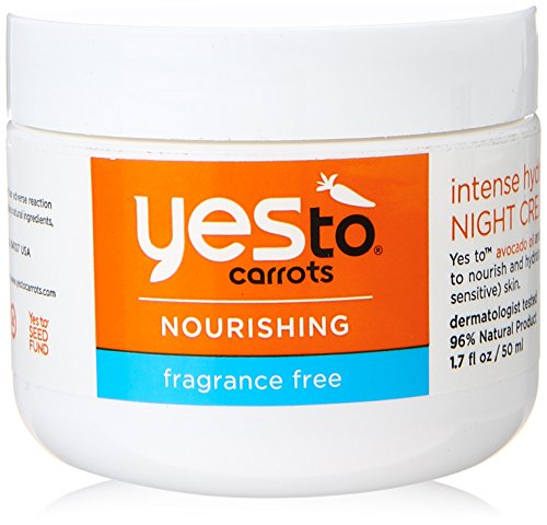 Yes To Carrots Fragrance-Free Intense Hydration Night Cream, 1.7 Fluid Ounce (Yes To Carrots Super Rich Body Butter)
