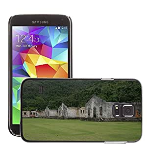 Hot Style Cell Phone PC Hard Case Cover // M00170277 Presidio Abandoned Old Decay // Samsung Galaxy S5 S V SV i9600 (Not Fits S5 ACTIVE)