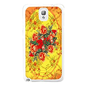 Unique Circles Pattern Plastic Protective Case Cover for Samsung Galaxy Note 3 (floral sg0734)