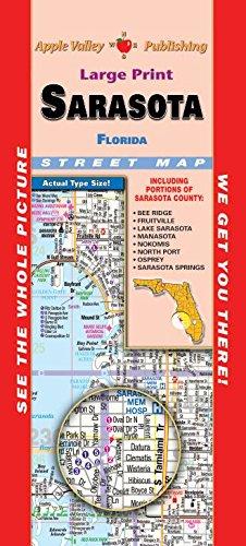Sarasota Florida Map.Amazon Com Sarasota Florida Fold Map Office Products