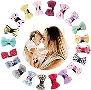 Baby Hair Clips, VEGCOO 20PCS Hair Bows for Fine Hair Boutique Grosgrain Ribbon Hair Bows Clips Barrettes Acce