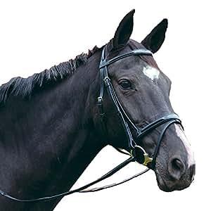 Exselle Elite Plain and Fancy Bridle, Black, Oversize