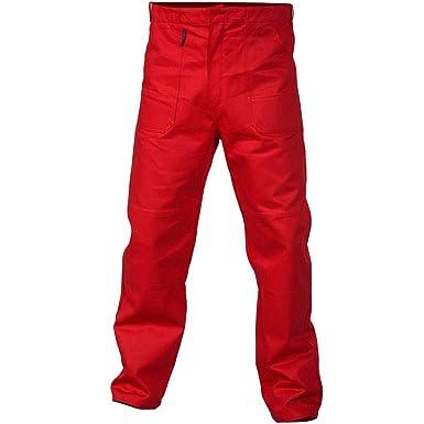 Charlie Barato - Pantalones de Trabajo para Hombre, Color Rojo ...