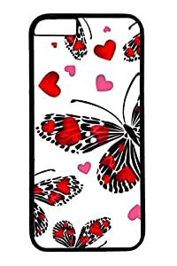 Brian114 Red Butterfly 3 Phone Case for the iPhone 6 Plus Black