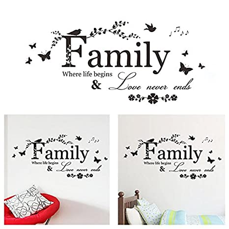 cxzc wall quotes our family moments to love pegatinas de pared