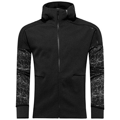adidas Men's Ufb Zne Full Zip Hoody (Black, S)
