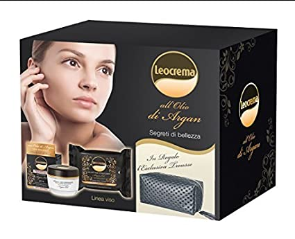 Leocrema unidades regalo color 1 Crema facial 50 ml + 25 toallitas desmaquillantes + 1 Neceser