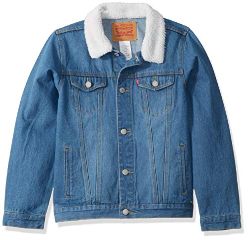 Levi's Boys' Toddler Denim Trucker Jacket, Legendary Sherpa, 2T
