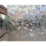 NEO Home Superior No-Glue 3D Static Decorative Privacy Window Films.1.5Ft x 9.8Ft (45cm x 300cm)