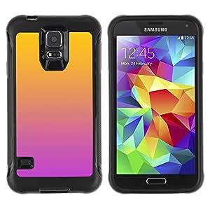 "Pulsar iFace Series Tpu silicona Carcasa Funda Case para Samsung Galaxy S5 V , Degradados de color Naranja Rosa Púrpura"""