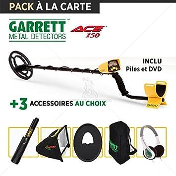 Detector de metales Garrett ACE 150: 3 accesorios diferentes: Amazon.es: Jardín
