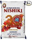 Nishiki Premium Rice, Medium Grain, 15-Pound Bag (3 Pack)