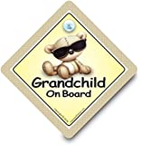 Grandchild On Board Car Sign, Grandchild Car Sign, Grandchild Shades Car Sign, Grandchildren On Board, , Car Sign, Bumper Sticker, Baby on Board, Driving Sign, Automobile Sign, Vehicle Sign, Joke Car Sign, Funny Car Sign, I Want That Sign