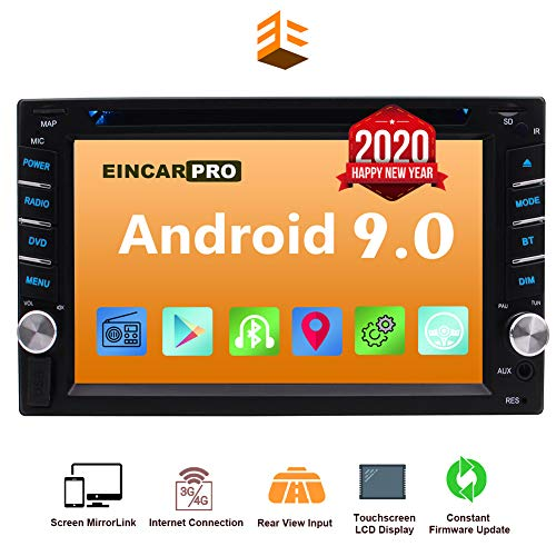 Cheap Double Din Car Stereo Android 9.0 with GPS Navigation Bluetooth Audio in Dash System Capacitive 6.2 inch Touch Screen 1080P DVD/CD Player Radio Receiver FM/AM WiFi Mirror Link Steering Wheel Control eincar multimedia