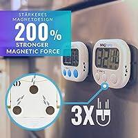 InnoBeta 2X Temporizador Digital de Cocina con Cuenta atrás, Electrónico cronómetro y Magnético Temporizador, Fitness Timer convolumen de Alarma ...