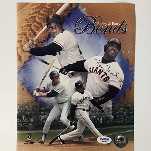 Autographed/Signed Barry Bonds San Francisco Giants 8x10 Baseball Photo PSA/DNA COA Holo Only