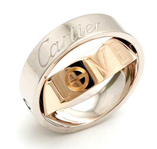 [カルティエ] Cartier ラブリング シークレットラブ リング 指輪 K18 WG PG 14号 #54 2005年クリスマス限定品 B4065054 B07DPCZX83