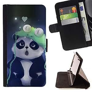 KingStore / Leather Etui en cuir / Apple Iphone 6 PLUS 5.5 / Cute Panda